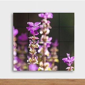 Painel Decorativo Flor Lavanda - Quadrado