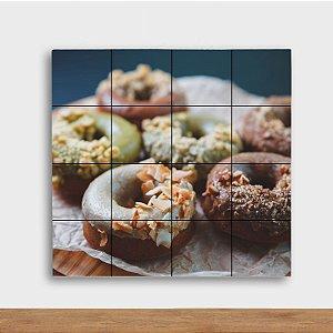 Painel Decorativo Donuts - Quadrado