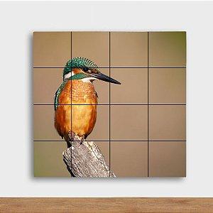 Painel Decorativo Pássaro Colorido - Quadrado
