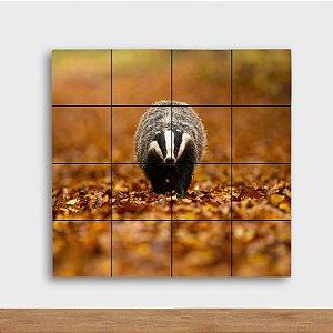 Painel Decorativo Gambá Outono - Quadrado