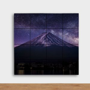 Painel Decorativo Fuji Noturno - Quadrado