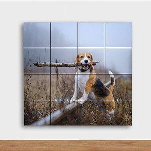 Painel Decorativo Trilha com Cachorro - Quadrado
