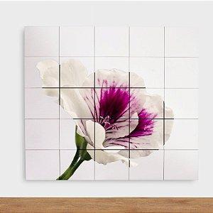 Painel Decorativo Flor Gerânio - Quadrado