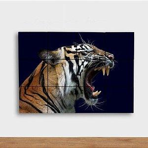 Painel Decorativo Tigre Rugindo