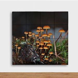 Painel Decorativo Cogumelos - Quadrado