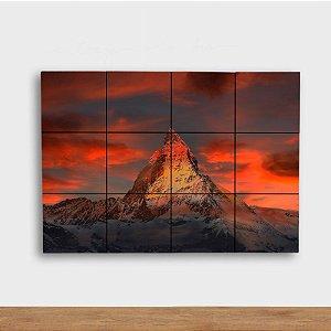 Painel Decorativo Montanha Pôr do Sol