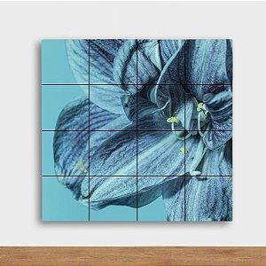 Painel Decorativo Flor Azul - Quadrado