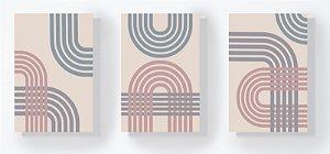 Trio Retangular Azulejos - Formas 1