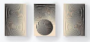 Trio Retangular Azulejos - Formas e Linhas Marfim