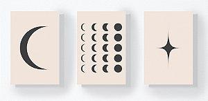 Trio Retangular Azulejos - Luas e Estrela