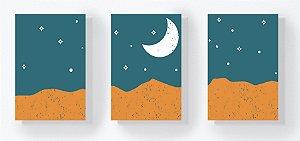 Trio Retangular Azulejos - Deserto