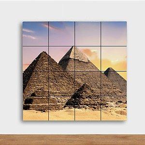 Painel Decorativo Pirâmides - Quadrado