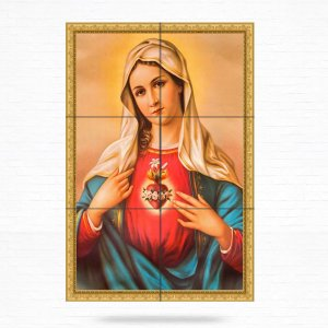 Painel Decorativo de Imaculado Coração de Maria - MOD 02