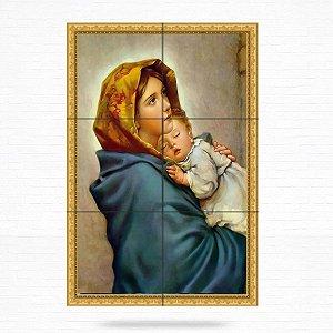 Painel Decorativo de Virgem Maria e Menino Jesus