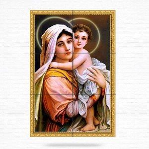 Painel Decorativo de Virgem Maria e Menino Jesus - MOD 04