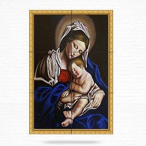 Painel Decorativo de Virgem Maria e Menino Jesus - MOD 06