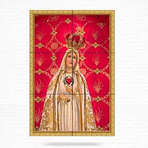 Painel Decorativo de Nossa Senhora de Fátima - MOD 02