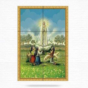 Painel Decorativo de Nossa Senhora de Fátima e Pastorinhos - MOD 02