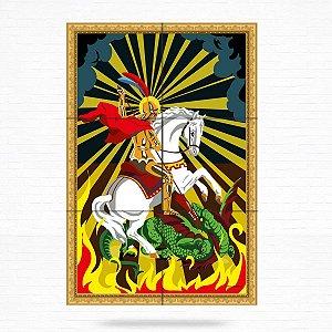 Painel Decorativo de São Jorge - MOD 02
