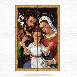 Painel Decorativo Sagrada Família (Jesus, Maria e José) - MOD 01