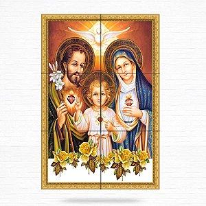 Painel Decorativo Sagrada Família (Jesus, Maria e José) - MOD 02