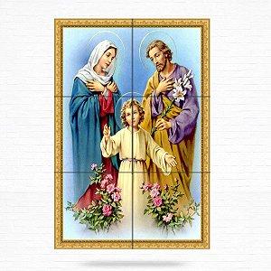 Painel Decorativo Sagrada Família (Jesus, Maria e José) - MOD 03