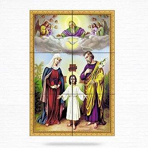 Painel Decorativo Sagrada Família (Jesus, Maria e José) - MOD 04