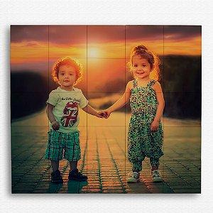 Painel Decorativo de Azulejo Crianças 100x100cm