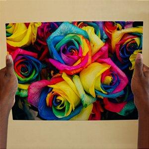 Azulejo Decorativo Flores Aquarela