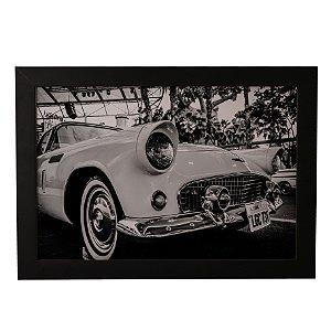 Quadro Decorativo Carro Vintage Branco