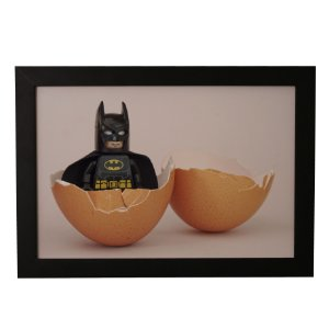 Quadro Decorativo Batman Lego Na Casca