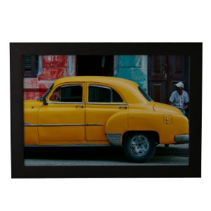 Quadro Decorativo Carro Amarelo Vintage