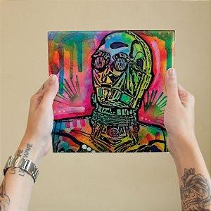 Azulejo Decorativo Robo Aquarela
