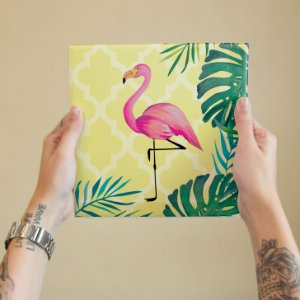 Azulejo Decorativo Flamingo
