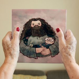 Azulejo Decorativo Harry Potter e Hagrid
