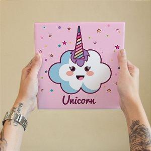 Azulejo Decorativo Unicornio Nuvem