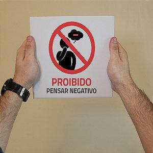 Azulejo Decorativo Proibido Pensar Negativo