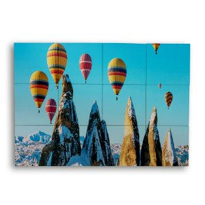 Painel com 12 Azulejos Balões No Céu