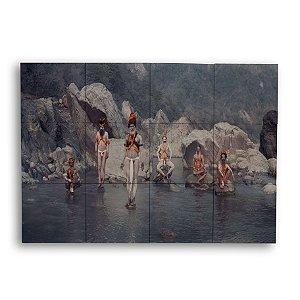 Painel Decorativo de Azulejo Tribo Oriental 40x60cm