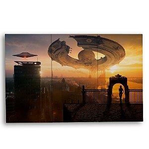 Painel Decorativo de Nave Extraterrestre 40x60cm