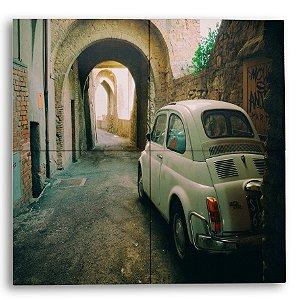 Painel com 4 Azulejos Carro Vintage