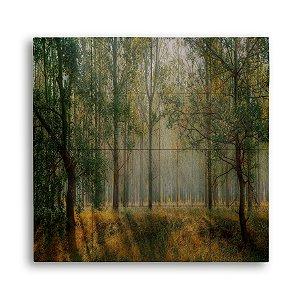 Painel com 16 Azulejos Árvores