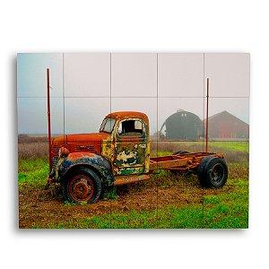 Painel com 20 Azulejos Caminhão Colorido