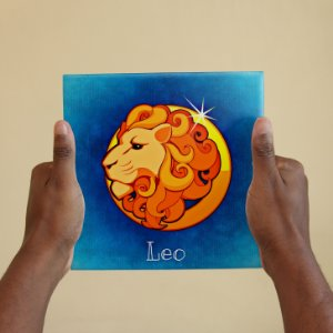 Azulejo Decorativo LEÃO - Coleção Signos do Zodíaco
