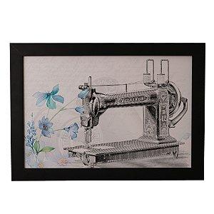 Quadro Decorativo Maquina de Costura Vintage