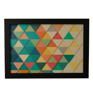 Quadro Decorativo Abstrato Triangulos