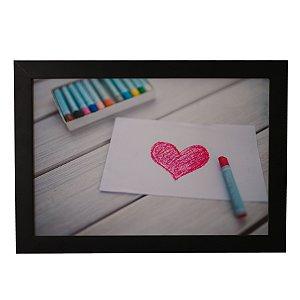 Quadro Decorativo Amor Desenhado Com Giz