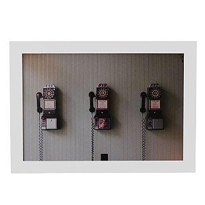 Quadro Decorativo Telefones Vintage