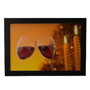 Quadro Decorativo Taças de Vinho
