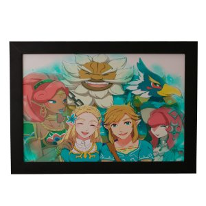 Quadro Decorativo Zelda e Sua Turma